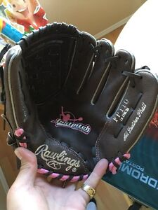 High quality pink baseball glove