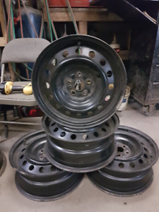 4- 16 INCH TOYOTA COROLLA/MATRIX STEEL RIMS