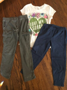 Girl's pants and tops in size 10