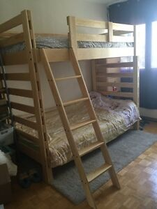 Solid pine bunk bed buy and sell furniture in toronto for B furniture toronto