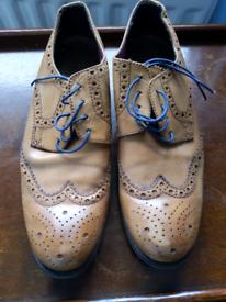 Men's tan brown brogue shoes size 43/9