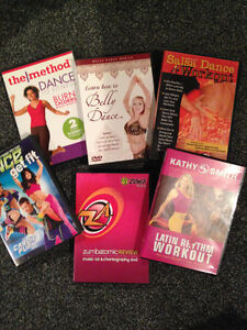 Various Dance Fitness DVDs