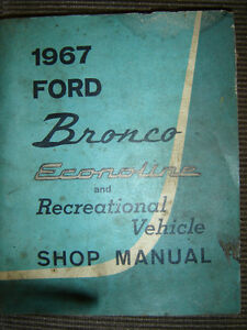 1967 Ford Bronco Shop Manual