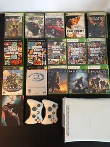 Xbox 360 + 2 Controllers + Games