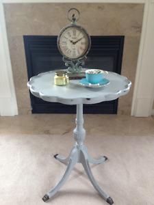 """Paris Grey"" Pedestal Table - Beautiful!"