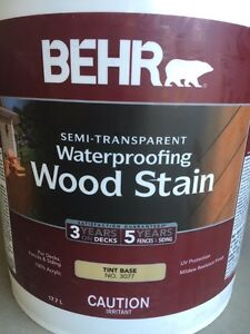 Redwood color stain