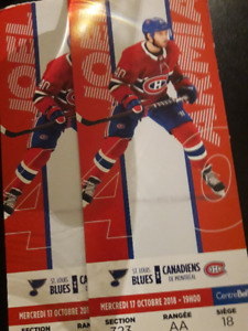 Billets de hockey