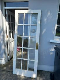 3 White glazed internal doors