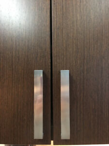 Contemporary Cabinet doors metal handles