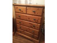 Schreiber chest of drawers and pair of side units