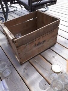Vintage Andrew Little and sons, Trenton Crate