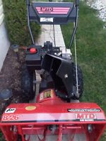 "MTD 8hp 26"" Cut snowblower"