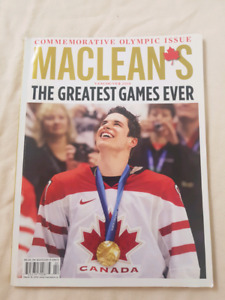 McLean's Cemmoratuve Olympic Issue Vancouver 2010