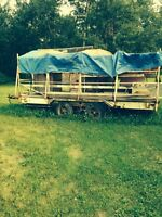16' flat bed trailer