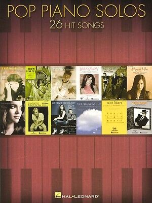 Pop Piano Solos 26 aktuelle Pop Songs Songbook Noten für Klavier solo