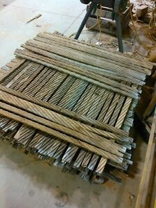 4' used breeze dried kiln sticks