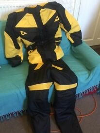 Yellow and black motorbike/hill climbing suit