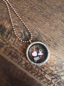 Floating Locket with charms