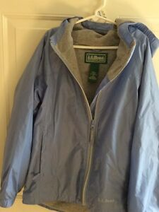 Girls size 10 LLBean rain jacket