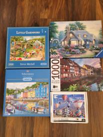 Jigsaw puzzle bundle 5x 1000 pieces