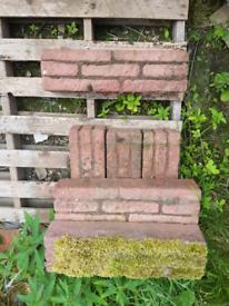 Red brick effect garden edging