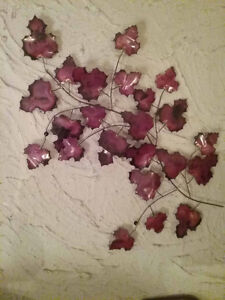 Leaf wall decor - made of metal