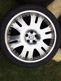 """Hawke 22"""" Range Rover alloys with nearly new tyres"""