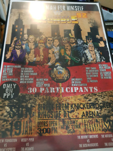 Vintage wwf royal rumble 1992 poster wwe collectible
