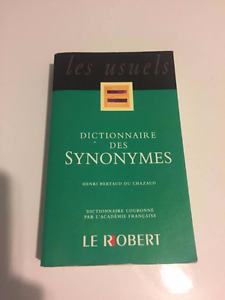 Dictionnaire Le Robert synonymes