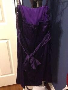 Beautiful ladies purple dress size large St. John's Newfoundland image 2