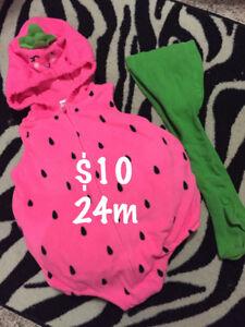 24m Halloween costume-strawberry