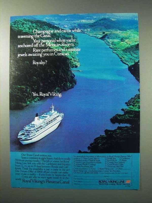 1984 Royal Viking Line Cruise Ad - Champagne Caviar