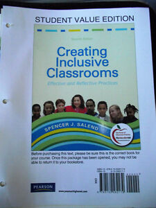 EPSE 414 Textbook Rental - Creating Inclusive Classrooms