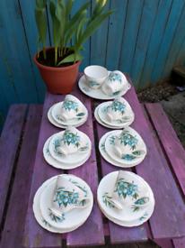 21 piece english china teaset. Easter garden party