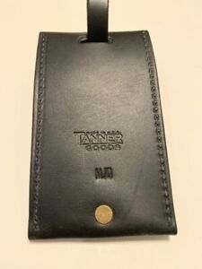 Tanner Goods Leather Luggae Tag Black New