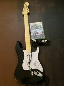 Xbox 360 wired guitar rock band bundle