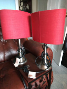 Two red Table Lamps