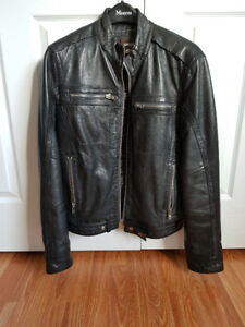 Moto-Style Leather Jacket
