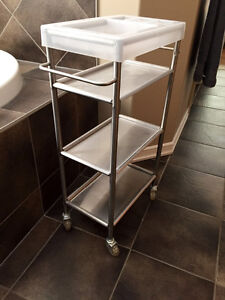 Stainless steel storage or decor cart