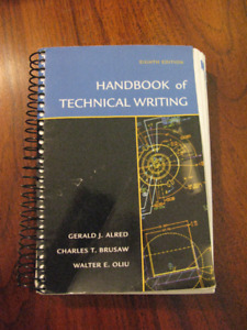 Handbook of Technical Writing by Gerald J. Alred - 8th Edition