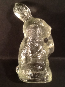 Easter Bunnies & Hens Vintage Glass Candy Containers ( 7 )