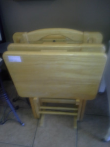 Wood TV tables for sale