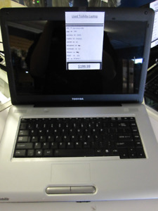 "Used Toshiba Satellite 15.6"" Laptop (Intel Celeron 900)"