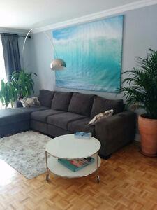 Condo meublé sur 2 étages 2 CàC à louer à Montréal 1100pc