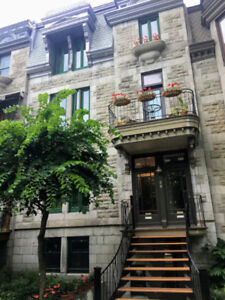 Plateau, Facing Parc LaFontaine! 1-Bedroom in 5 ½ Luxury Apt