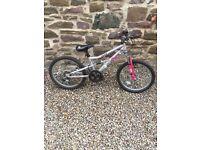 "Girls 16"" dual suspension apollo bike"