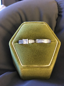 18k 2.7ct diamond ring set - $4300