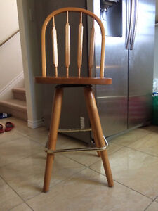 ***************Two hard wood bar stools for sale****************