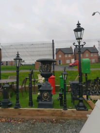New Cast aluminium garden lamps 4ft 6ft 9ft tall
