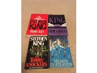 Selection of second hand Stephen King books